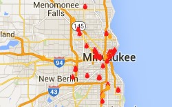 Milwaukee Bed Bug Reports Map